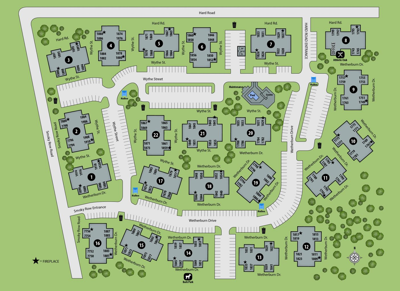 TGM Worthington Green Apartments Map